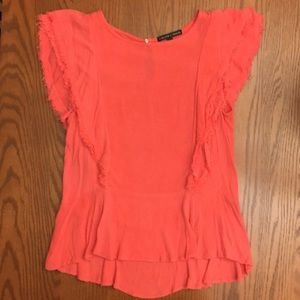 Jewel tone pink Peplum blouse from Nordstrom
